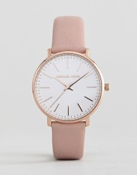 Michael Kors MK2741 Pyper Leather Watch In Pink 38mm - Pink