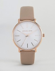 Michael Kors MK2748 Pyper Leather Watch 38mm - Pink