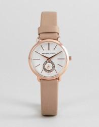 Michael Kors MK2752 Portia Leather Watch - Brown