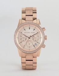 Michael Kors MK2752 Ritz Sofie Chronograph Bracelet Watch in Rose Gold 37mm - Gold