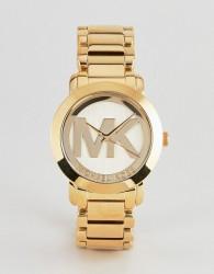 Michael Kors MK3206 ladies logo gold plated watch - Gold