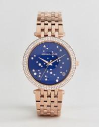 Michael Kors MK3728 Darci Star Dial Bracelet Watch In Rose Gold - Gold