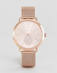 Michael Kors MK3845 Portia Mesh Watch In Rose Gold 37mm - Gold