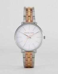 Michael Kors MK3901 Pyper Bracelet Watch in Mixed Metal 38mm - Silver