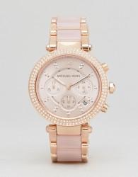 Michael Kors MK5896 Parker Chronograph Bracelet Watch In Rose Gold - Gold