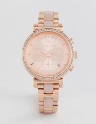 Michael Kors MK6560 Sofie Bracelet Watch In Rose Gold 39mm - Gold
