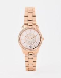 Michael Kors MK6619 Petite Runway bracelet watch in rose gold 28mm - Gold
