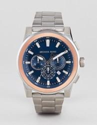 Michael Kors MK8598 Grayson Bracelet Watch In Silver 44mm - Silver