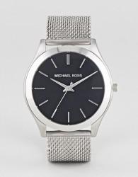 Michael Kors MK8606 Slim Runway Mesh Watch In Silver 44mm - Silver