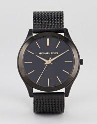 Michael Kors MK8607 Slim Runway Mesh Watch In Black 44mm - Black