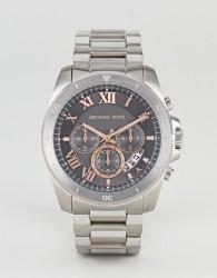 Michael Kors MK8609 Brecken Chronograph Bracelet Watch In Silver 44mm - Silver