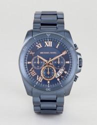 Michael Kors MK8610 Brecken Chronograph Bracelet Watch In Blue 44mm - Blue
