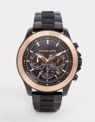 Michael Kors MK8666 Theroux Sport bracelet & silicone watch 44.5mm - Black