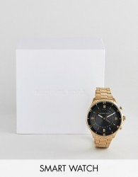 Michael Kors MKT4014 mens smart watch in gold plated - Gold