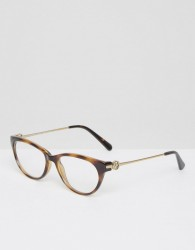 Michael Kors Optical Clear Lens Glasses In Tort - Brown