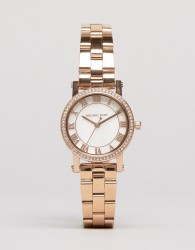Michael Kors Rose Gold Petit Noire Watch MK3558 - Gold