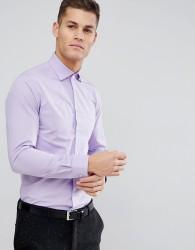 Michael Kors Slim Easy Iron Smart Shirt In Lilac - Purple