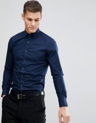 Michael Kors Slim Easy Iron Smart Shirt In Navy - Navy