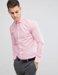 Michael Kors Slim Easy Iron Smart Shirt In Pink - Pink