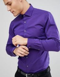 Michael Kors Slim Easy Iron Smart Shirt In Purple - Purple