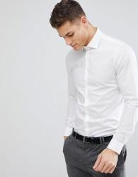 Michael Kors Slim Easy Iron Smart Shirt In White - White