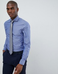 Michael Kors slim fit smart shirt in blue fil coupe - Blue