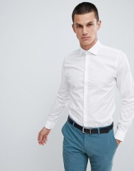 Michael Kors slim fit smart shirt in stretch - White