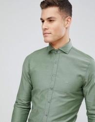 Michael Kors Slim Smart Oxford Shirt In Khaki - Green