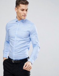 Michael Kors Slim Smart Oxford Shirt In Pale Blue - Blue