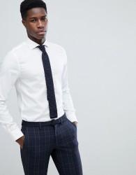 Michael Kors Slim Smart Oxford Shirt In White - White