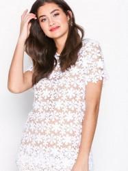Michael Michael Kors Floral Lace Mix Tshrt T-shirt White
