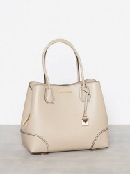 Michael Michael Kors Mercer Gallery Md Center Zip Tote Håndtaske Beige