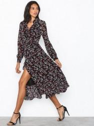 Michael Michael Kors Midi Ruffle Wrap Drs Loose fit dresses Black