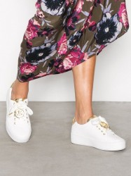 Michael Michael Kors Poppy Lace Up Low Top Optical White