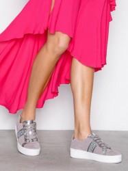 Michael Michael Kors Poppy Stripe Lace Up Low Top Pearl Grey