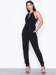Michael Michael Kors Ring Neck Jumpsuit Jumpsuits Black
