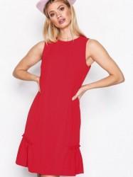 Michael Michael Kors Sleeveless Ruffle Dress Loose fit True Red