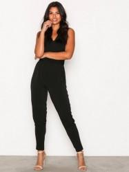 Michael Michael Kors Waist Wrap Jumpsuit Jumpsuits Black