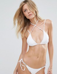 Minimale Animale White Triangle Bikini Top - White