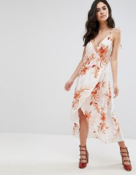 Mink Pink Lolita Floral Wrap Dress - Multi