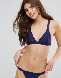 Minkpink Fixed Triangle Bikini Top - Navy