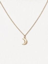 MINT By TIMI Small moon bracelet Halskæde Guld
