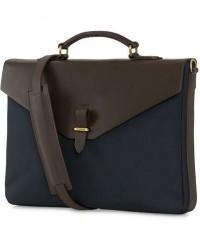 Mismo M/S Bureau Nylon Briefcase Navy/Dark Brown men One size Blå