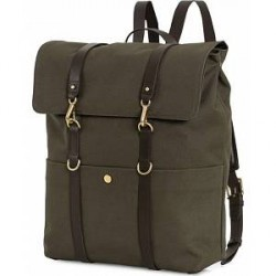 Mismo M/S Canvas Backpack Army/Dark Brown