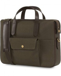 Mismo M/S Canvas Briefcase Army/Dark Brown men One size Grøn