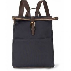 Mismo M/S Express Nylon Backpack Navy/Dark Brown
