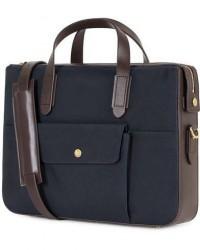Mismo M/S Nylon Briefcase Navy/Dark Brown men One size Blå