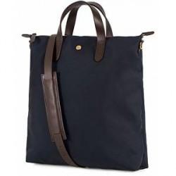 Mismo M/S Nylon Shopper Bag Navy/Dark Brown