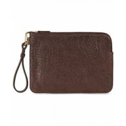 Mismo Tuscan Leather Pouch Dark Brown