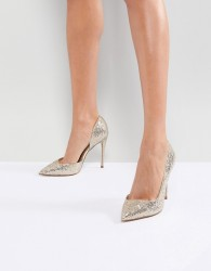 Miss KG Alexandra Gold Court Shoes - Gold